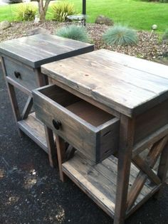 X Frame nightstand | Do It Yourself Home Projects from Ana White