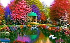 Beautiful colorful garden...