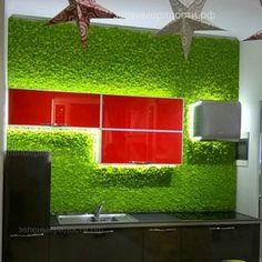 """Как привлечь клиента и увеличить продажи?! Эко-дизайн набирает все большую популярность. Предлагаем яркое решение для презентации Вашего продукта, как мы сделали это для компании @Plaza.Real в МЦ""""Мебельный континент"""" г.Санкт-Петербурга. ☎Звоните, мы приведем Вам клиентов: +7 913 759-79-28 #moss #стабилизированныерастения #мохдлякухни #декоризмха #дизайнерыиархитекторы #мох #ягель #зеленаястена #экоинтерьер #дизайнсиспользованиеммха"""