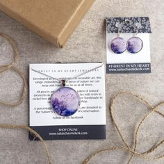 Pendant and Earrings Gift Box - Purple Flight Heart Jewelry, Wearable Art, My Heart, Range, Pendant Necklace, Purple, Box, Earrings, Handmade