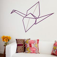 Origami Crane Wall Art form the book Fun With Washi