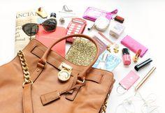 Inside my Michael Kors Hamilton bag