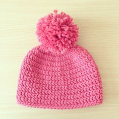 forever_autumn crochet pink hat
