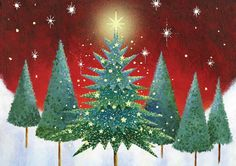 Album 2 « Gallery 18 « Christmas (by category) « Jan Pashley – Illustration / Design Charity Christmas Cards, Young Art, Christmas Graphics, Christmas Time, Merry Christmas, Green Trees, Twinkle Twinkle, Decoupage, Ghosts