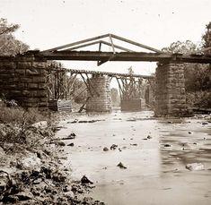 Knoxville, Tennessee (vicinity). Railroad bridge across Platt creek