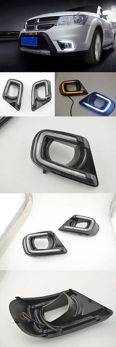Motors Parts And Accessories: 2X Led Daytime Running Fog Light Lamp Drl W Signal For Dodge Journey 2013-2015 BUY IT NOW ONLY: $135.99