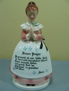 Enesco Mother in the Kitchen Prayer Lady Pink Napkin Holder $45
