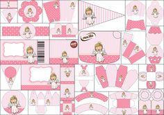 Cute Angel Girl First Communion  Free Printable Kit.