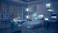 Spaceship Interior, Futuristic Interior, Futuristic Architecture, Anime Backgrounds Wallpapers, Anime Scenery Wallpaper, Luxury Bedroom Sets, Luxurious Bedrooms, Bedroom Themes, Minimalist Bedroom