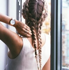 It's always a good day for braids and rose gold Use the code 'fakander' for off Mod's Hair, Hair Day, Her Hair, Hairstyles Haircuts, Braided Hairstyles, Cool Hairstyles, Cornrows, Long Silver Hair, Boxer Braids
