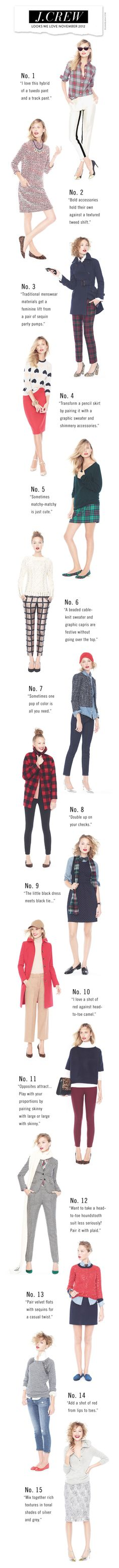 J.Crew Looks We Love November 2012 - outfit ideas