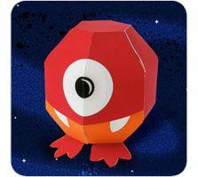 free download:Albert Monster Paper Toy