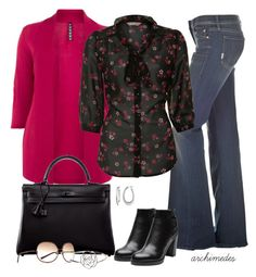 """Raspberry Flowers"" by archimedes16 ❤ liked on Polyvore featuring Mother, A