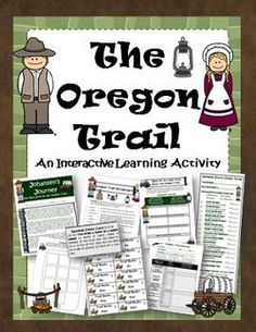 Oregon Trail Interactive Activity. Great way to directly involve your students in the Oregon Trail! $