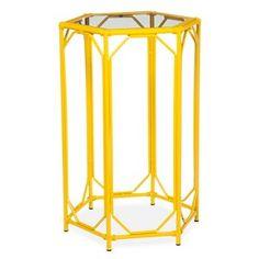 Threshold™ Bamboo Hexagon Motif Accent Table - Yellow