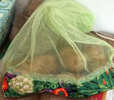 mesh produce bags {and the nice thing is, food won't rot in these!}