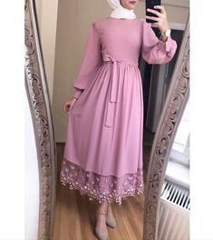 Modest Fashion Hijab, Modern Hijab Fashion, Hijab Fashion Inspiration, Abaya Fashion, Fashion Dresses, Hijab Evening Dress, Hijab Dress Party, Muslim Women Fashion, Islamic Fashion