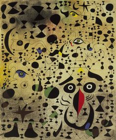 Joan Miro- The Beautiful Bird Revealing the Unknown to a Pair of Lovers (from the Constellation series)