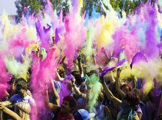Holi Festival Of Colours Hindu Festivals, Indian Festivals, Nepal Food, Holi Festival Of Colours, Beginning Of Spring, Lord Vishnu, Indian Gods, Videos, Picture Video