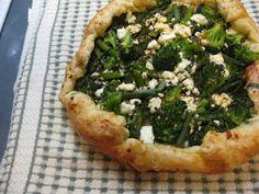 Broccolini Puff Pastry Galette. Broccolini and Feta Galette!