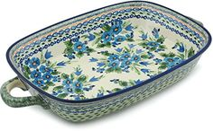 Polish Pottery Rectangular Baker with Handles 19inch Evangeline UNIKAT ** You can find more details at