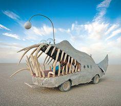 Transport Burning man festival Nevada Design your own transport  The Anglerfish car