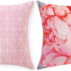 Blue Print and Peony Cushion both in Pink by Rapee