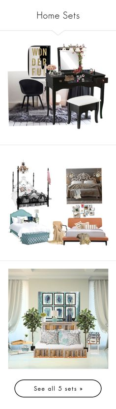 """""""Home Sets"""" by fashionrx ❤ liked on Polyvore featuring interior, interiors, interior design, home, home decor, interior decorating, Oliver Gal Artist Co., Smashbox, Harper Blvd and Beauty Is Life"""