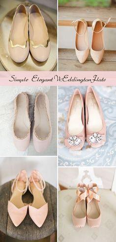 Simple Elegant Pink Flats for Weddings