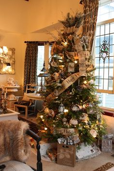 #Christmas tree inspiration would love it unfortunately my cat...would love it too