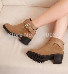 Cheap 2014 nuevas mujeres de la moda botas de los zapatos de plataforma del…