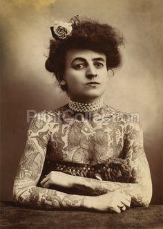 Tattooed woman: 1907