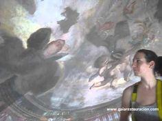 Curso de restauración de pintura mural de Gaia, vídeo1, procesos de limpieza mecánica y protección - YouTube