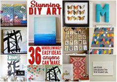 Fancy walls on the cheap: 36 easy, beautiful DIY art ideas