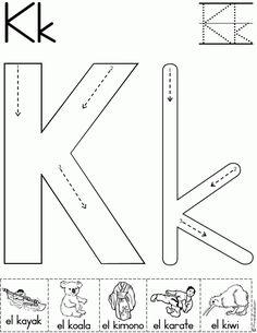 Magnifico cuaderno para repasar el abecedario - Imagenes Educativas Letter K Preschool, Preschool Literacy, Letter A Crafts, Alphabet Activities, Printable Preschool Worksheets, Alphabet Worksheets, Alphabet Tracing, Free Worksheets, Learning Letters