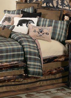 Hadley Plaid Log Cabin Bedding