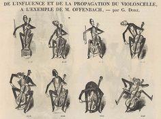 Gustave Doré, « De l'influence de la propagation du violoncelle », Petit Journal pour rire, n°15, 1856.