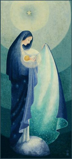 Lost in the Beauty of her God- the beautiful art of Sr. Marie Pierre Semler. Happy birthday Mary, Queen of Heaven.