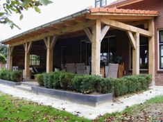 Home - Assinkhout Backyard Covered Patios, Backyard Patio Designs, Diy Patio, Backyard Landscaping, Outside Living, Outdoor Living, Wooden Carports, Outdoor Kitchen Patio, Carport Designs