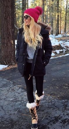 Winter Outfits For Teen Girls, Preppy Winter Outfits, Cold Weather Outfits, Winter Fashion Outfits, Autumn Winter Fashion, Winter Snow Outfits, Snow Outfits For Women, Winter Snow Boots, Cute Camping Outfits