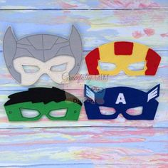 Thor, Ironman, Hulk and Captain America Masks   Face Masks ...