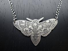 DeathHead Moth Necklace by charlotteburkhart