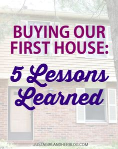 Important things to remember any time you're house hunting!! | JustAGirlAndHerBlog.com