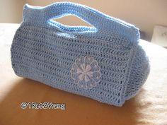 Blue Crochet purse by 1ret2vrang on Etsy, €30.00