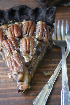 Black Bottom Bourbon Pecan Pie