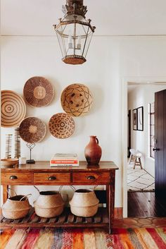 Inviting entryway in Spanish-style home #entryway