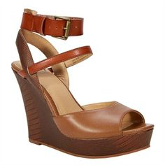 BC Footwear Move It Strappy Wedge Sandal | from Von Maur #VonMaur #StyleCorner #Wedge #Cognac #Shoes