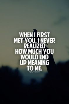 """When I first met you, I never realized how much you would end up meaning to me""  #UGILabs #love #wedding"