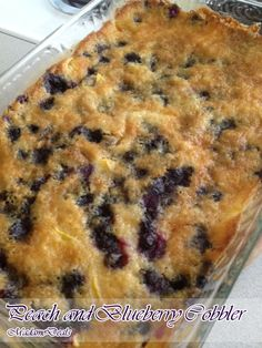 Dessert Recipes for Kids: Peach and Blueberry Cobbler Recipe - Madame Deals, Inc.