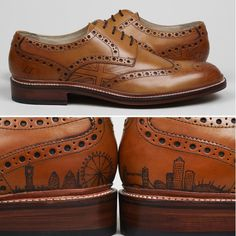 Oliver Sweeney tatooed shoes! Yup real tattoos to make your grooms shoes extra special. #wedding